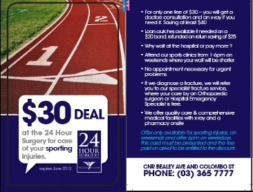 Discount Sports Injury Care – New Deal at the 24 Hour Surgery
