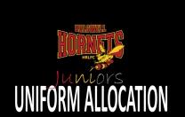 Hornet Juniors – Uniform Allocation